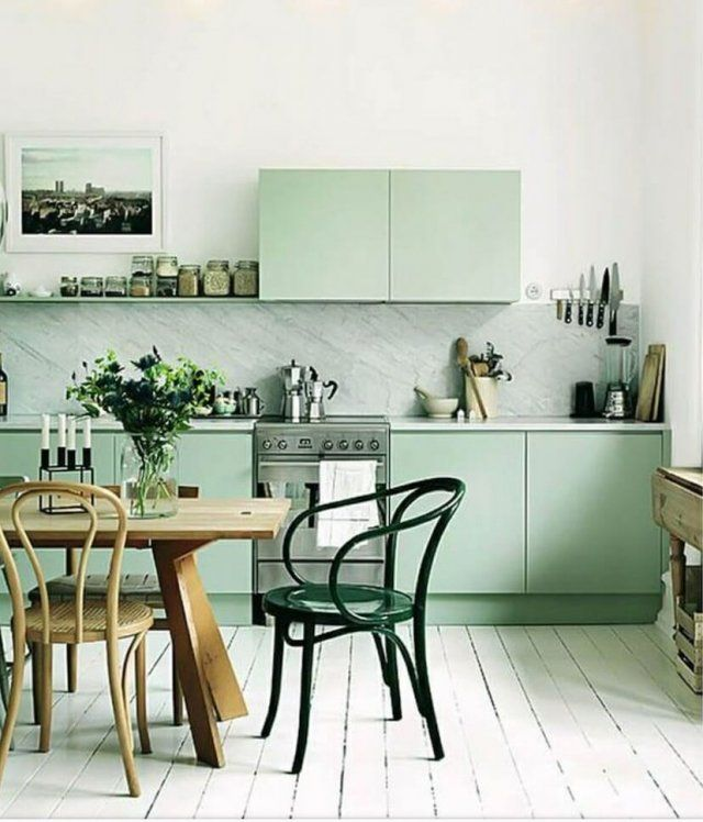 Color Trend 2020 Neo Mint In Interiors And Design Green Kitchen