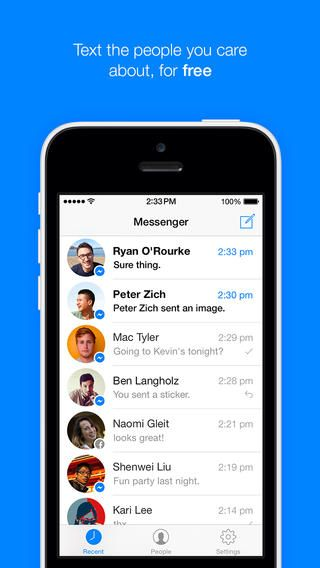 Facebook Messenger Updated for iOS 7