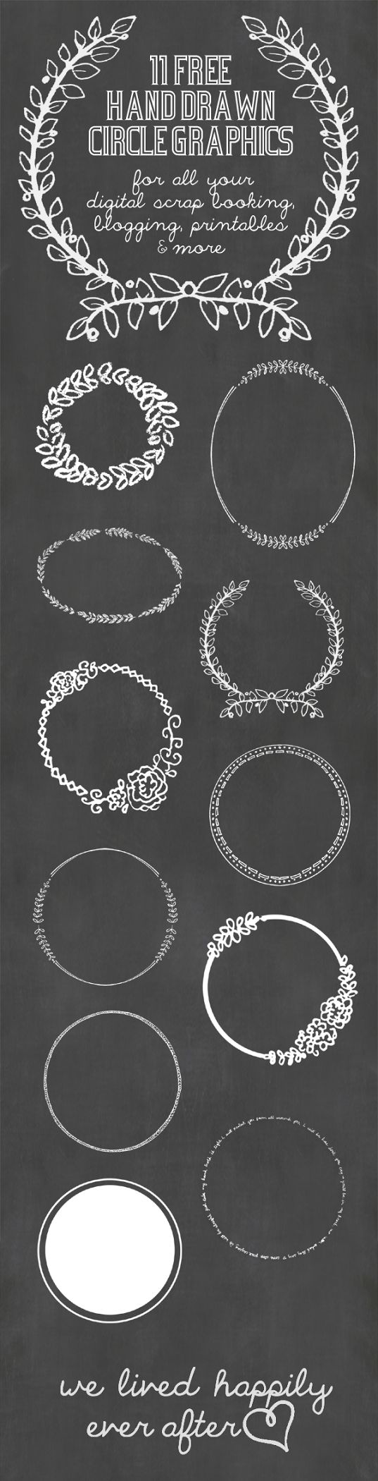11 Free Hand Drawn Circle Digital Graphics