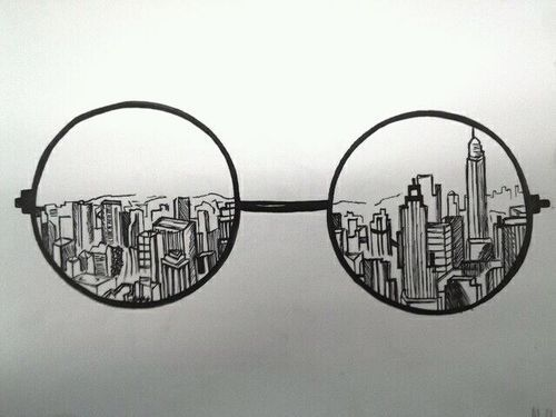 Se eu tô alegre Eu ponho os óculos e vejo tudo bem Mas se eu tô triste, eu tiro os óculos Eu não vejo ninguém