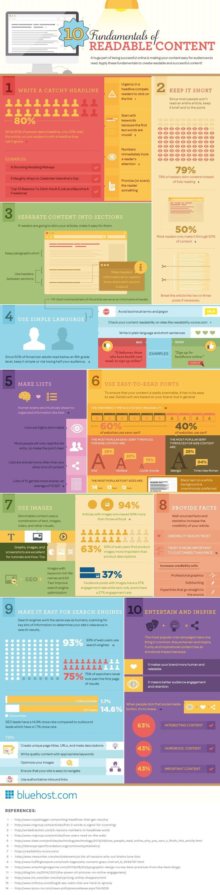Content Marketing Tips: 10 Fundamentals Of Readable Content - infographic