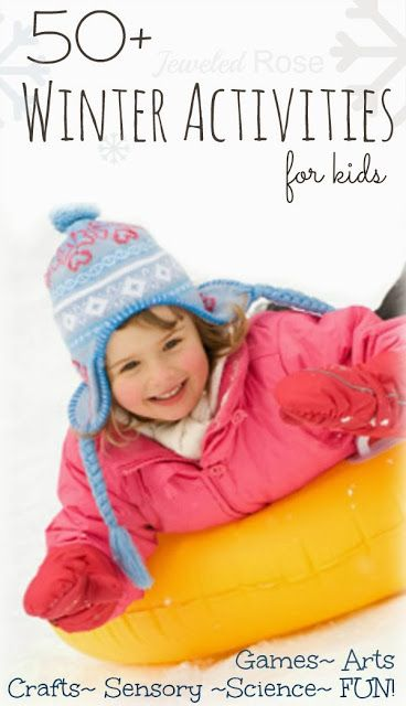 An amazing collection of Winter Activities for Kids- arts, crafts, Science experiments, fun games, snow play activities, and so much MORE!