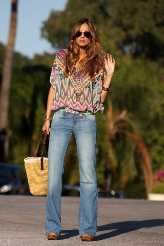 look seventies. Flare JeansHippy