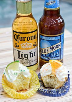 Beer Cupcakes ... perfect for my welcome home surprise BBQ ;) @April Cochran-Smith Cochran-Smith Cochran-Smith Hunt