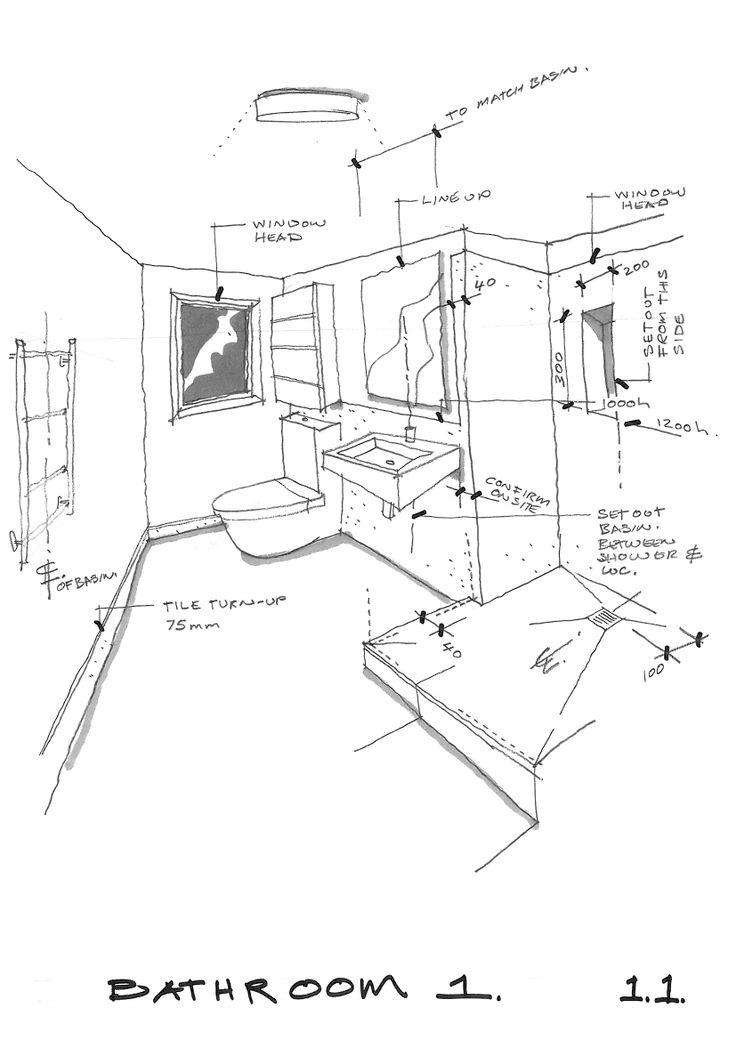 sketch for a bathroom renovation