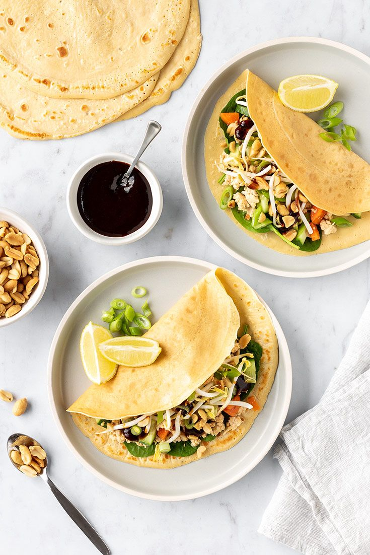 Vietnamese Chicken Crepes Recipe With Images Chicken Crepes