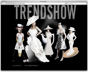 Projekt: Rosenthal Trendshow. Website für POS-Aktion mit Flashintro, Händlersuche mit Content-Management-System und Kreation von Online-Werbemittel wie Banner und E-Cards