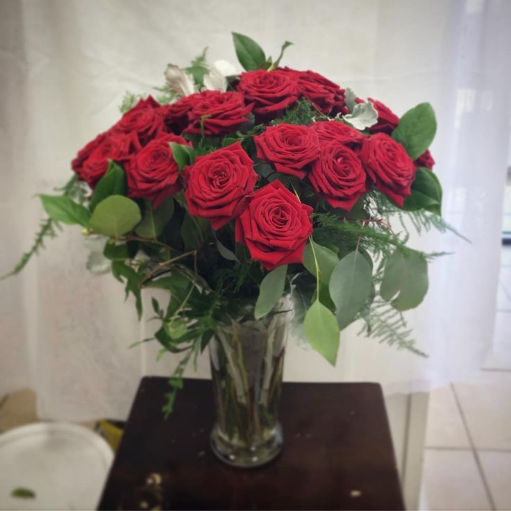 A gorgeous 25 rose arrangement that went out for a 25th anniversary!