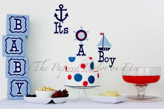 Nautical Baby Shower Decor/ Nautical Baby by ThePaperedParlor