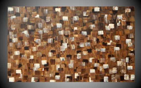 Painting Paintings Wall Art Brown Cream Canvas Art by acrylkreativ
