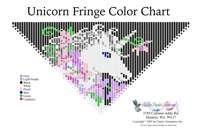 Unicorn Fringe Necklace Printable Bead Graph for Beading