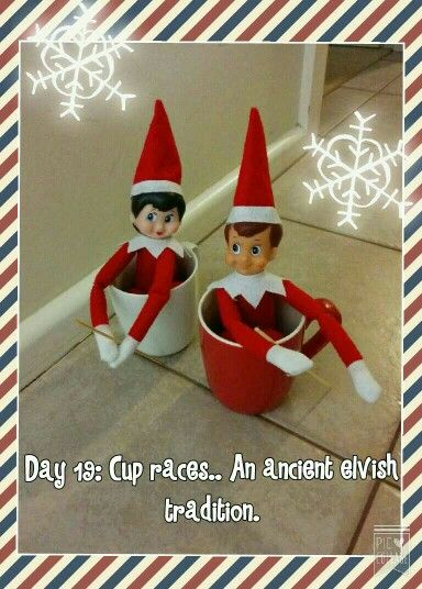 Day 19: Cup races .. An ancient elvish tradition.