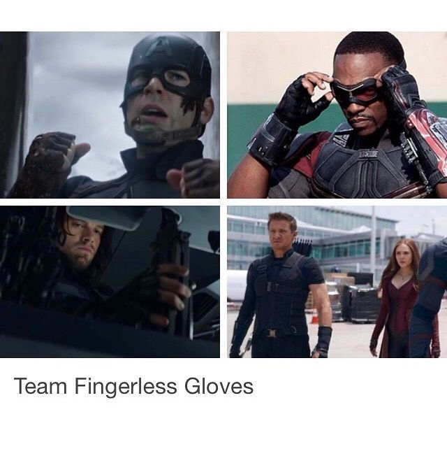 The real reason for CA:TCW is that the two sides can't decide on a united fashion statement. Seriously, look at Tony's side: they all have fully covered hands. Ant Man's the only one on Cap's team that doesn't have fingerless gloves, so I think we can all agree he's the double agent. =P