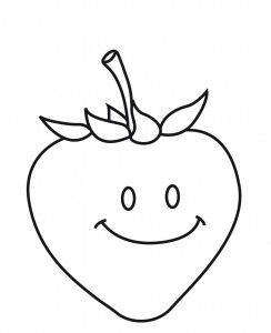 strawberry coloring page (2)