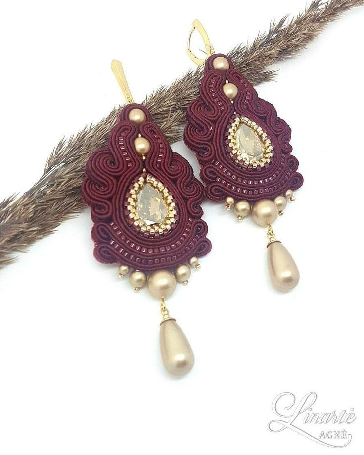 Agne Linarte jewelry & accessories, luxury earrings embellished with crystals from Swarovski and Delica seed beads.
