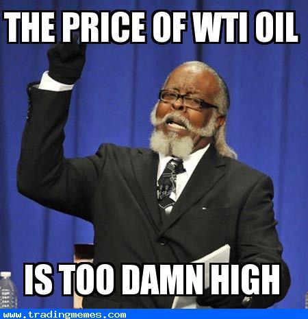 THE PRICE OF WTI OIL...