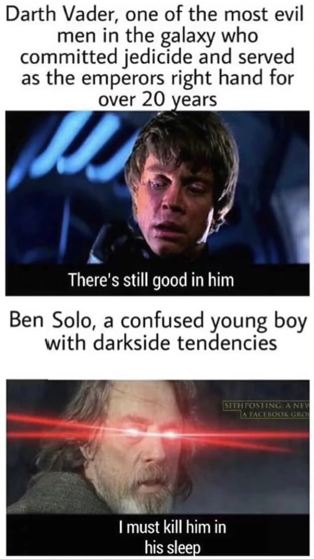 Double Standards Star Wars Humor Star Wars Facts Star Wars Jokes
