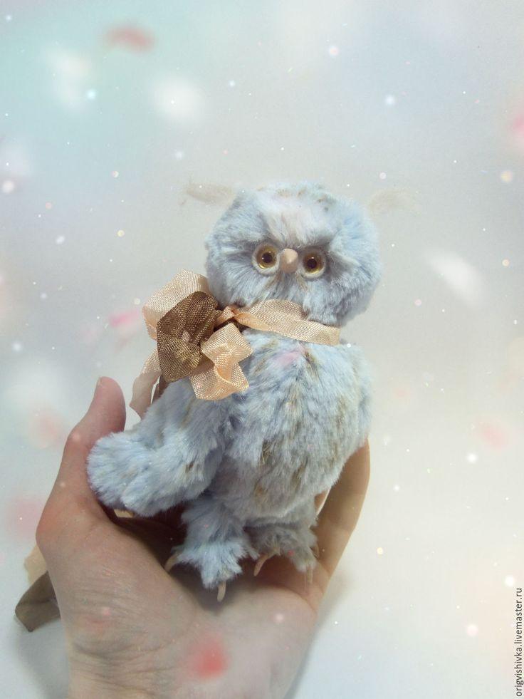 Купить Совёнок Арчи - голубой, совенок, сова игрушка, сова игрушка купить, сова в подарок