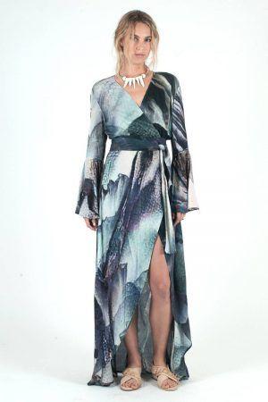 IXIAH AXIAL WRAP DRESS