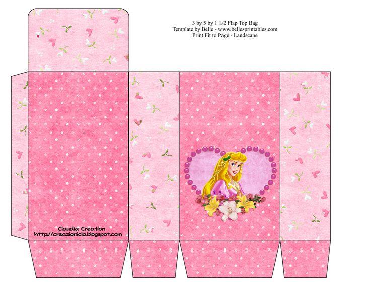 il mio angolo creativo: Sacchettino porta caramelle Principessa Aurora