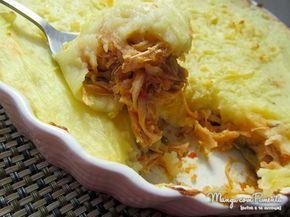 Escondidinho de frango, um prato perfeito para o almoço do Dia dos Pais. Clique na imagem para ver a receita do Blog Manga com Pimenta.
