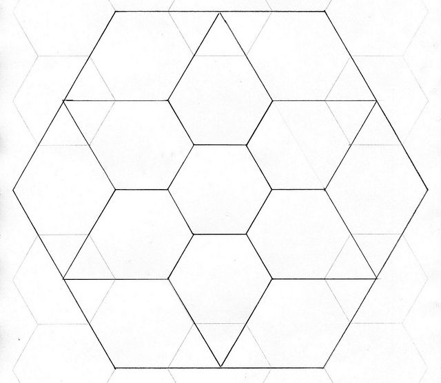 English paper piecing jewel star template star template for Hexagon templates for quilting free