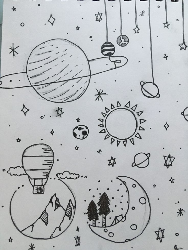 dessin drawings easy drawing planet desenho dibujos space desenhos rysunki simple fofos own vorlagen zeichnen sketches pencil malbuch dos proste