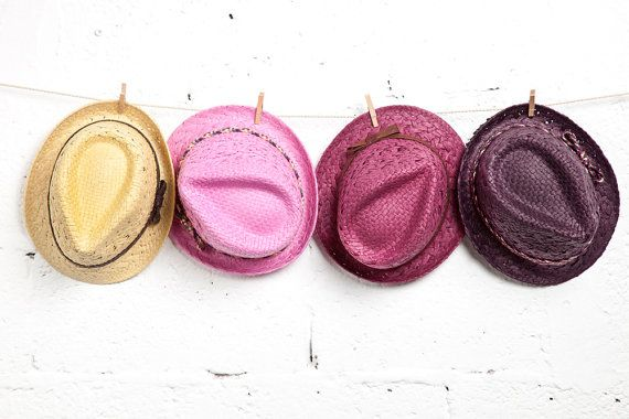 Fedora hats for women in many different colors.
