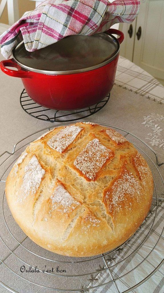 Cela faisait un petit moment que je voulais réaliser cette recette. La première fois que je l'ai vue, je me suis dit mais ce n'est pas possible de faire du pain dans une cocotte. Donc j'ai voulu tester et j'ai été agréablement surprise. Un super bon pain...