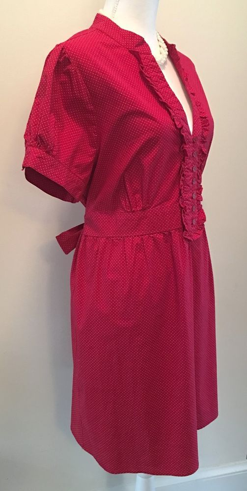 Sam And Max - Anthropologie Red Polka Dot Retro Pin Up Dress #SamAndMax #BlousonShirtDress