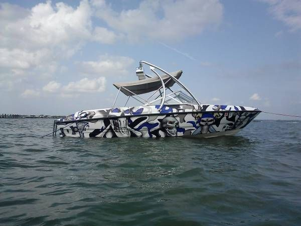 2003 Bayliner 185 with a Big Air Ice tower // universal wakeboard tower // Bayliner Boats //  boat tower // universal wakeboard tower // wakeboard towers for sale // boat wakeboard tower // boat towers for sale // cheap wakeboard tower // folding wakeboard tower // collapsible wakeboard tower // aluminum wakeboard tower //