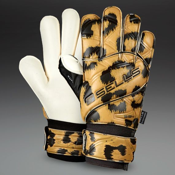 Sells-Goalkeeper-Gloves-Wrap-Club-Supersoft4-Cheetah-Goalie-Gloves-Goalkeeping-White