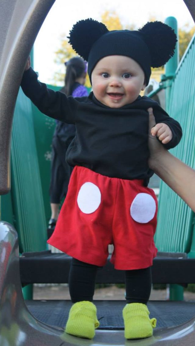 Homemade Mickey Mouse costume for my cutie!