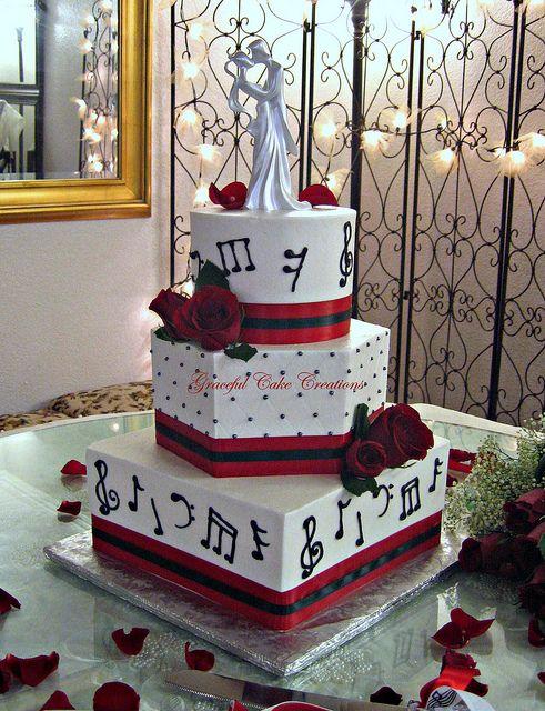 Musical Notes Wedding Cake | Flickr - Photo Sharing!