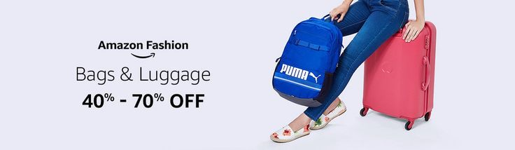 40% -70% OFF on BAGPACKS & LUGGAGE offers sale @ amazon.in