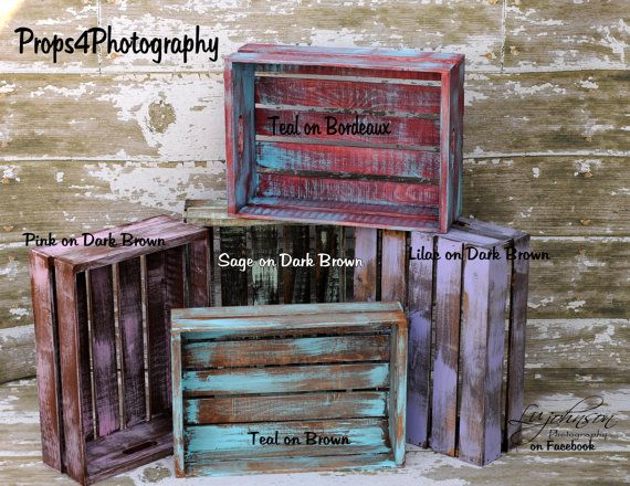 Painted crates from etsy.com