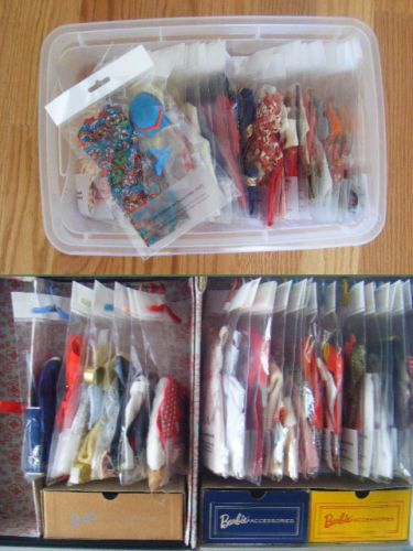 Barbie SKIPPER Archival Quality Clothes DISPLAY BAGS 64-66 lot Organize