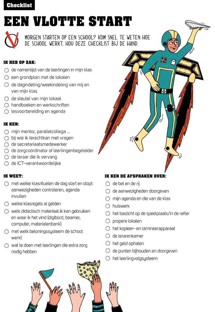 Checklist voor de start in een nieuwe klas/school. Zo verzamel je de juiste spullen en de belangrijkste info.