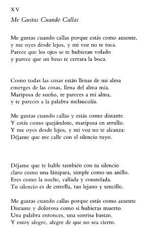 Me Gustas Cuando Callas: Pablo Neruda  Kendall MacVean