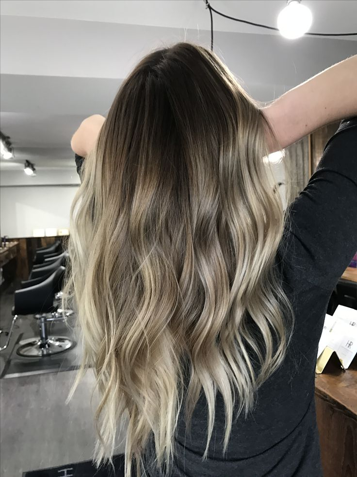 Cool toned summer celebrity inspired balayage sombre ombre hair painting blonde bronde light