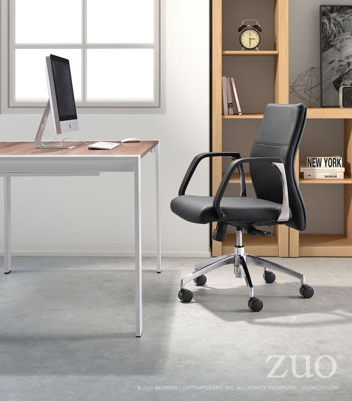 Lion Low Back Office Chair Slim Ribbing Adds Texture To The Sleek Leatherette Seat Of