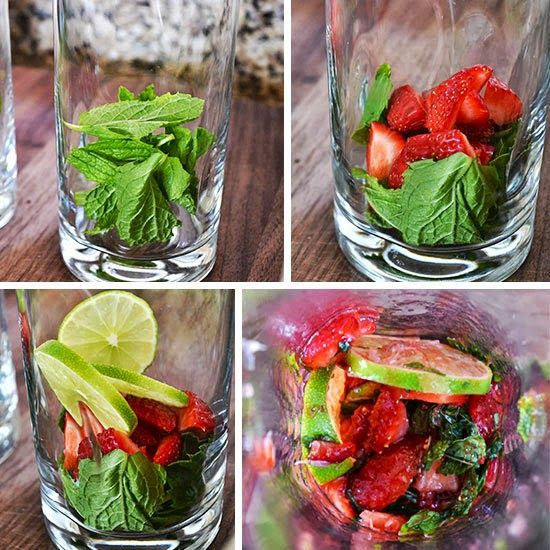 Skinny Strawberry Mint Mojito - The Perfect Cocktail - Healthbeautylife.com