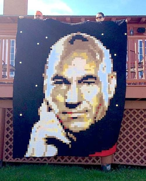 Oh Captain, my Captain - QUILTING Captain Picard from Star Trek...so cool! My hubby would love this!
