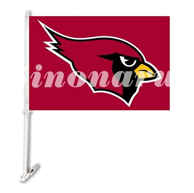 Arizona Cardinals Big Logo Car Flag Double Sided 29*45CM