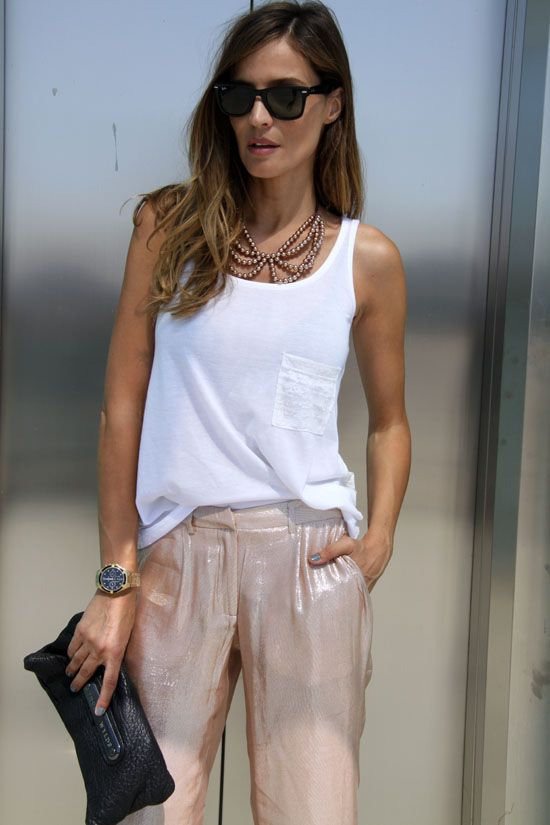 metallic trousers - lady addict | stylelovely.com