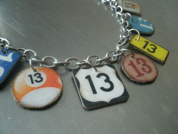 lucky number 13 bracelet by southernheidibelle on Etsy, $65.00