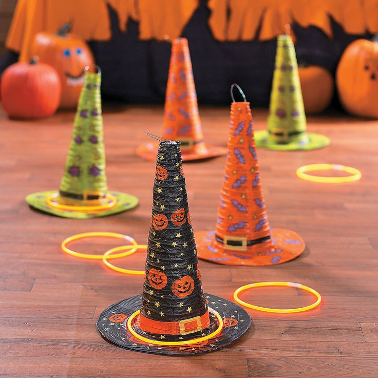Are you looking for a fun activity for kids to do during your Halloween party? Take a look at this Classic Halloween Witch Hat Ring Toss Game Idea. Cl…