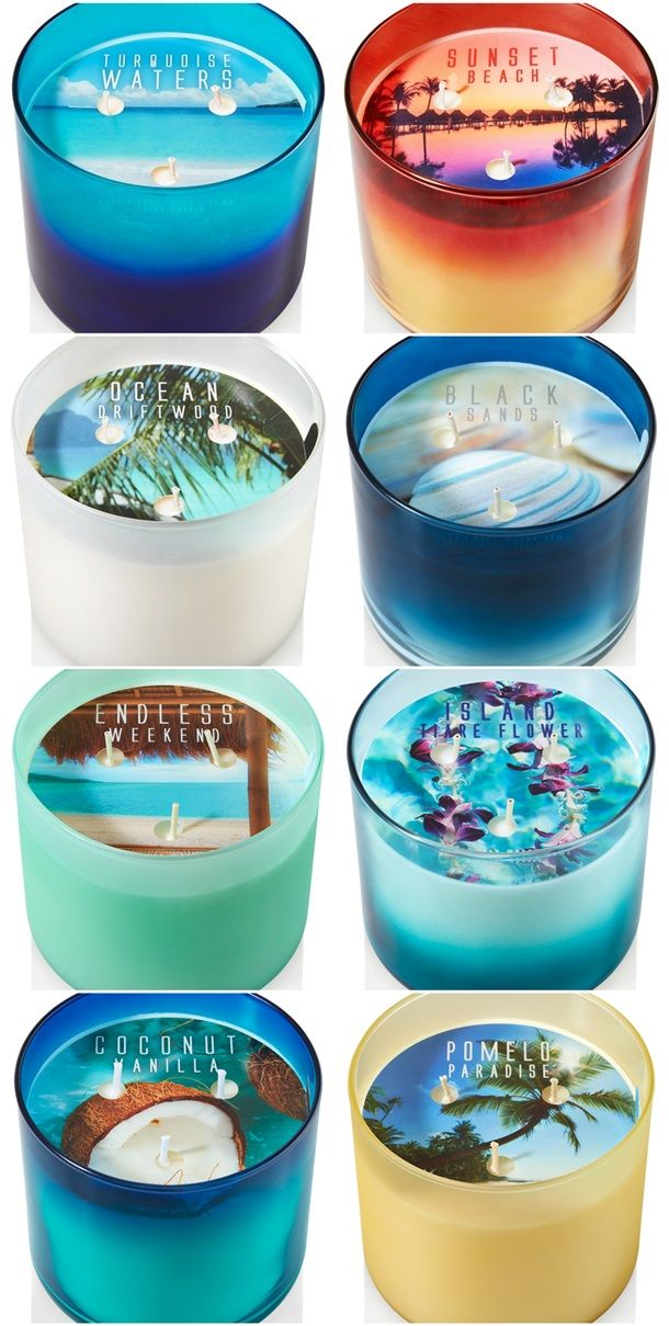 Bath and Body Works Meet Me In Tahiti 3 Wick Candle Collection