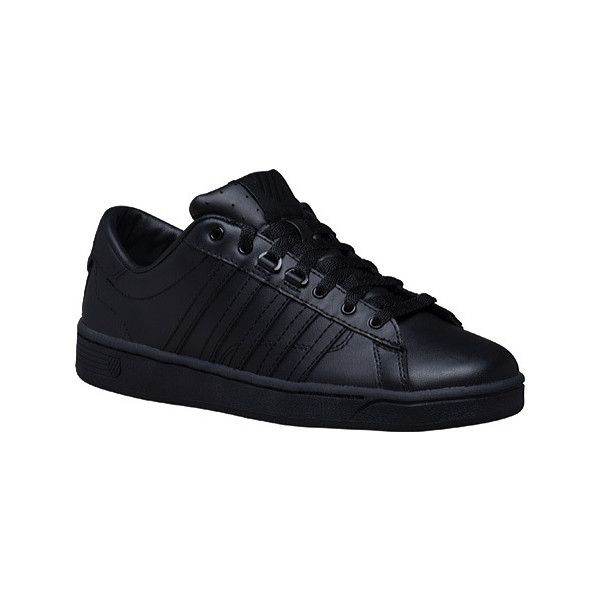Women's K-Swiss Hoke CMF Sneaker - Black/Black Athletic ($60) ❤ liked on Polyvore featuring shoes, sneakers, black, k swiss shoes, k-swiss trainers, tennis shoes, tennis trainer and tennis sneakers