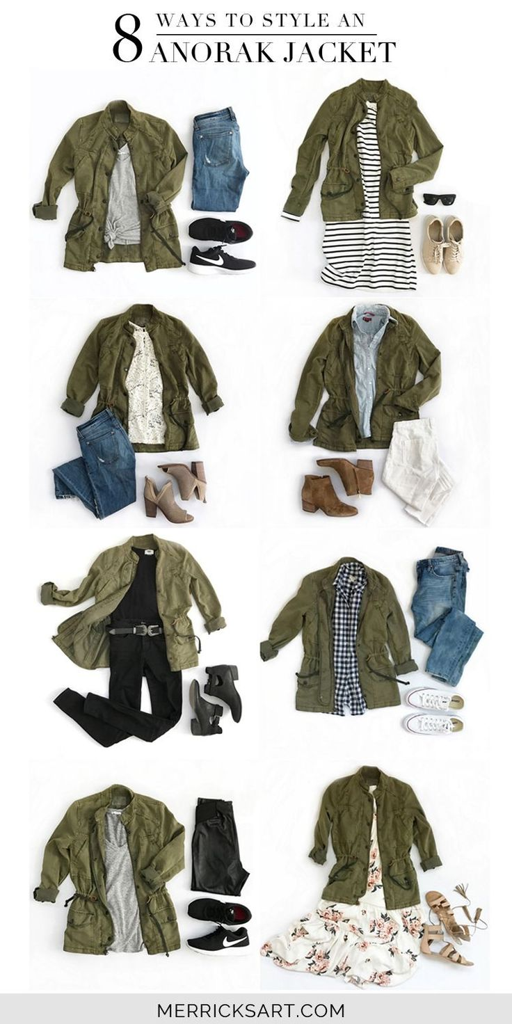 Merrick's Art // Style + Sewing for the Everyday Girl :  8 Ways to Style an Olive Jacket